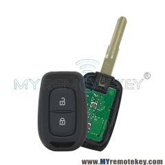 Remote Key 2 Button 433Mhz FSK Hitag AES-4A Chip For 2016 2017 Renault Duster Sandero Kwid