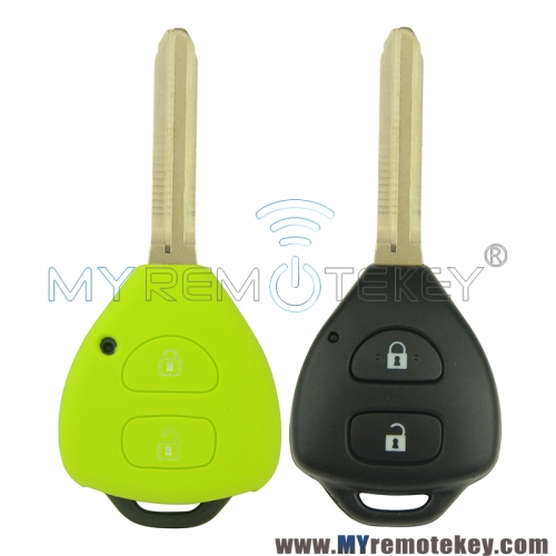 Silicone key Case shell 2 button for Toyota Camry remote key