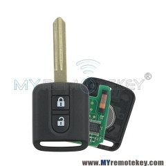 5WK4876/818 Remote Car key 2 Button 433Mhz ID46/PCF7946 Chip For Nissan Elgrand X-TRAIL Qashqai Navara Micra Note NV200