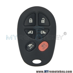 GQ43VT20T Remote fob 6 button 315mhz for Toyota Sienna 2005-2009 89742-AE050
