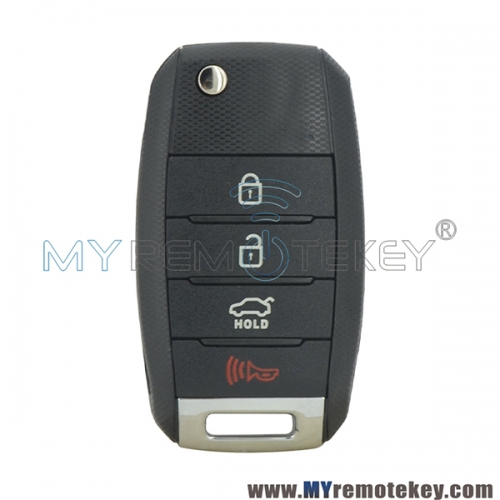 NYODD4TX1306-TFL Flip remote key 4 button 315Mhz 434mhz for Kia Optima Forte 2013-2016
