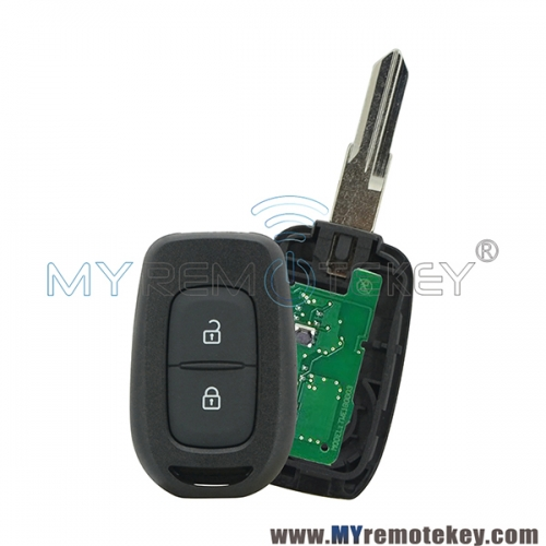 Remote Key VAC102 2 Button 433Mhz FSK Hitag AES-4A Chip For 2016 2017 Renault Duster Sandero Kwid