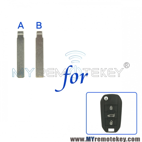 Flip remote car key blade VA2 HU83 for Peugeot 508 Citroen C4