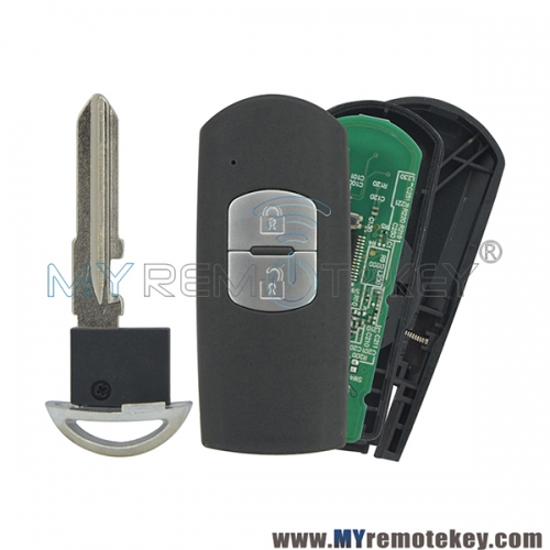 New model SKE13E-01 Smart key 2 button 434Mhz HITAG-PRO PCF7953 ID49 for Mazda 3 6 Axela Atenza 2014 2015 2016 2017