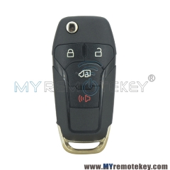 N5F-A08TAA Flip remote car key shell 4 button for 2019 Ford Transit