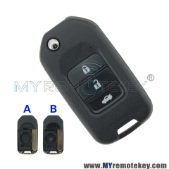Flip remote key shell 3 button for Honda
