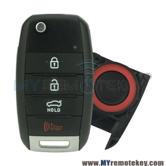 Flip remote car key shell case cover 4 button TOY49 blade for 2014 2015 Kia Optima