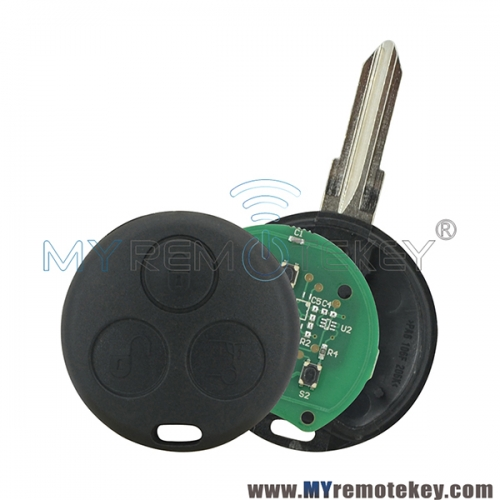 For Mercedes Smart Fortwo City Roadster 3 button remote key 433mhz