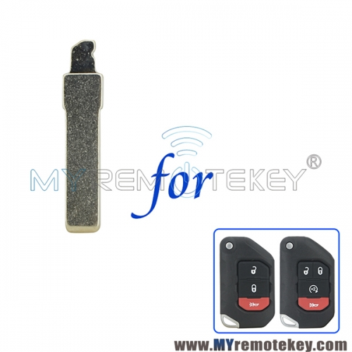 OHT1130261 Uncut Replacement Insert Flip Key Switch Blade For 2018 - 2019 Jeep Wrangler