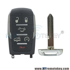 OHT-4882056 68291692AD Smart key case 6 buttton for 2019 2020 Dodge Ram 1500