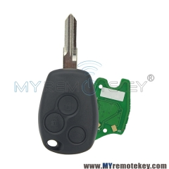 Remote car key 3 button VAC102 433 mhz for Renault PCF7947 ASK