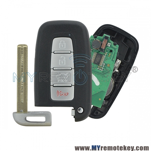 SY5HMFNA04 Smart key 4 button 315mhz 434Mhz for Hyundai Sonata 2011 - 2014