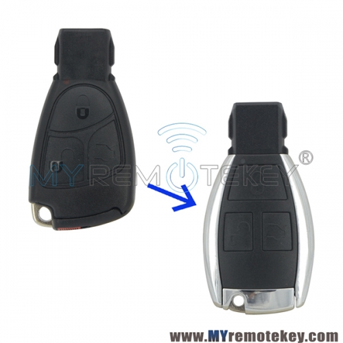 New Refit smart key shell case 3 button for Mercedes benz C Class E Class CLS CLK ML B CLass SLK CL S Class 2001 - 2010