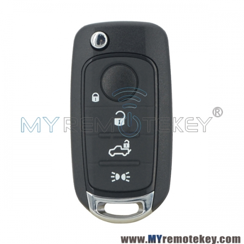 Flip remote key 4 button 433mhz 4A chip for Fiat 500 500X 500L
