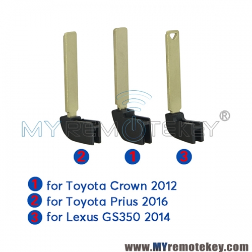 Smart key blade emergency key insert for Toyota Lexus