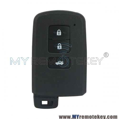 Smart key shell 3 button for Toyota Camry Corolla 2012-2015 89904-33500
