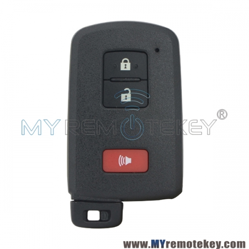 P/N 89904-52290 Smart key case 3 button for Toyota Prius C Tacoma 2016 FCC HYQ14FBA
