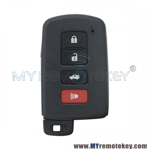 Smart key case 4 button for Toyota  Avalon Camry Corolla Highlander Rav4 2015 FCC HYQ14FBA