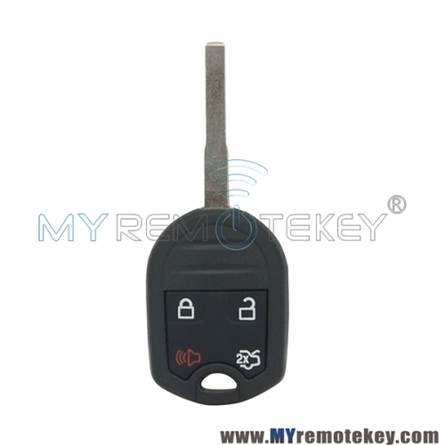 Remote head key shell 4 button HU101 blade for Ford Fiesta Focus Transit P/N 164-R7976
