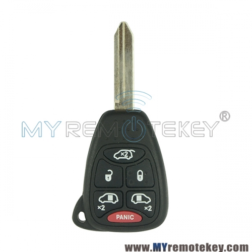 OHT692427AA Remote head key 6 button 315Mhz for Jeep Commander 2007 PN 68003389AA