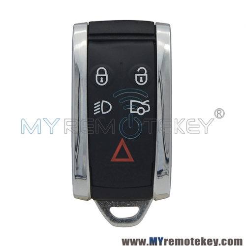 KR55WK45694 KR55WK49244 Smart key 5 button 315mhz 434mhz  for Jaguar XF XKR XJR Super V8 2009 2010 2011 2677-5WK49244