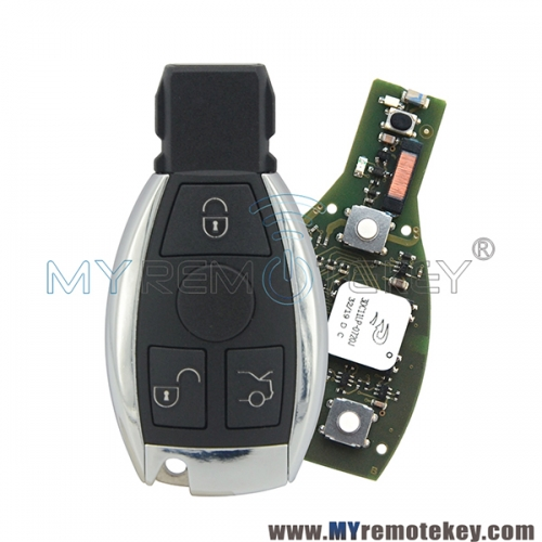 Smart key 3 button 434mhz for Mercedes Benz FBS3 KeylessGo FBS3 PCB Keyless Entry W204/207/212/164/166/221