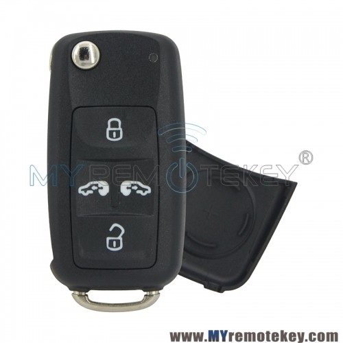 7NO 838 202K Remote key shell 4 button for Volkswagen 7NO838202K