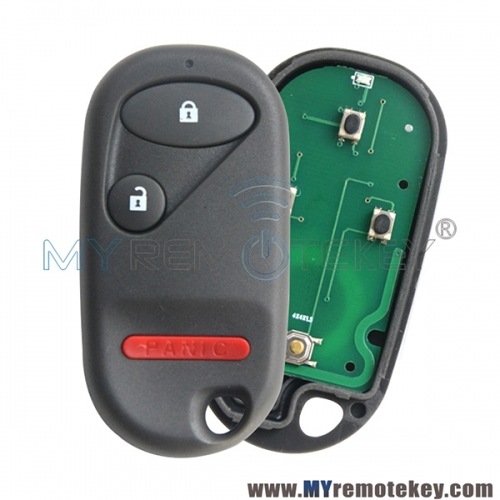 OUCG8D-344H-A remote fob 3 button 313.8Mhz for 2002-2011 Honda Civic Element PN 72147-S5T-A01