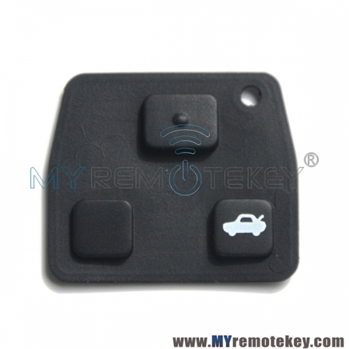Remote rubber button pad for Toyota remote key 3 button