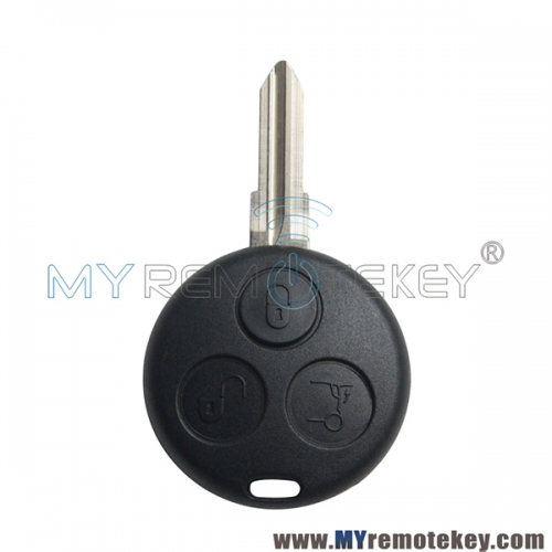 For Mercedes Smart Fortwo 3 button remote key shell