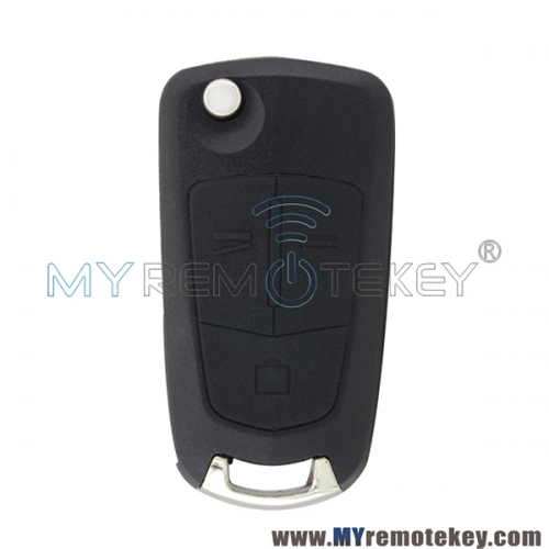 For Opel flip remote key case shell 3 button HU100