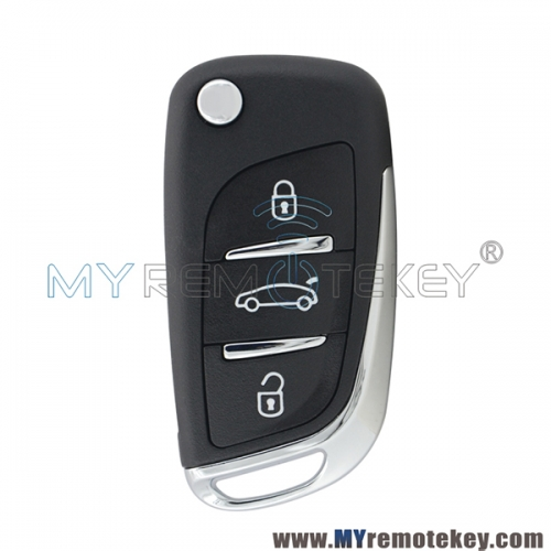 Flip remote car key for Peugeot 3 button 433mhz VA2