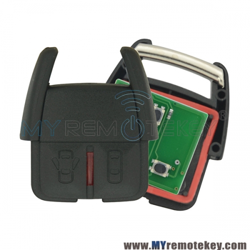 93176615 Remote key fob 2 button 433Mhz ASK for Opel VECTRA ASTRA ZAFIRA CORSA 2000-2004