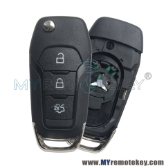 Flip remote key 3 button 434mhz ID49 chip for Ford Mondeo 2015+