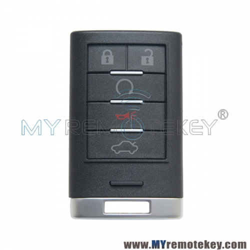 Smart key shell 5 button for Cadillac