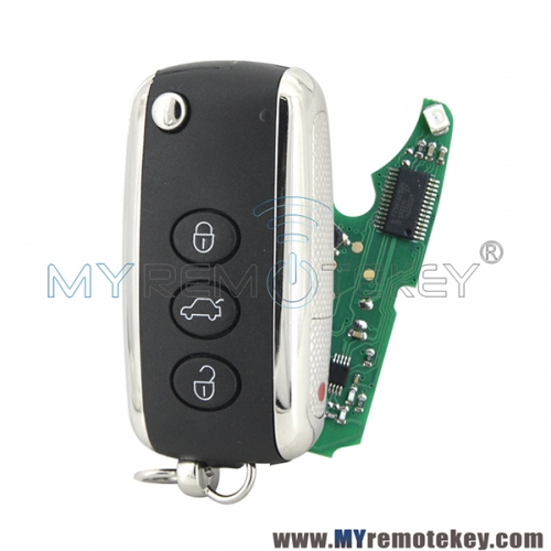 KR55WK45032 flip keyless key 3+1 button 315mhz PCF7942 chip for Bentley Continental 2004-2013
