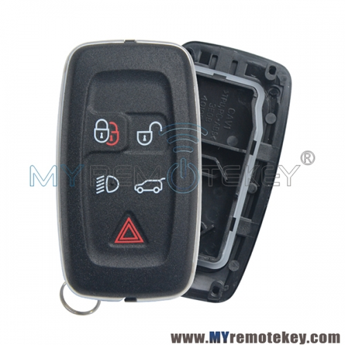 Smart key shell case for Landrover 5 button