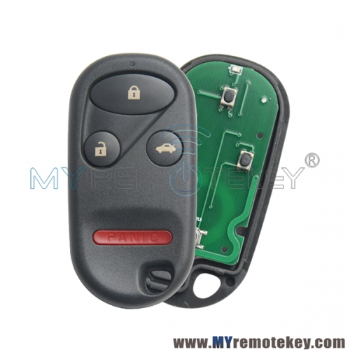 KOBUTAH2T remote fob 4 button 315Mhz ASK for Honda Accord 1998 1999 2000 2001 2002 72147-S84-A01