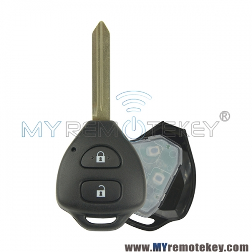 Tokai Rika Remote car key 2 button TOY47 434mhz for Toyota Camry Auris Corolla Verso Yaris 2010-2011
