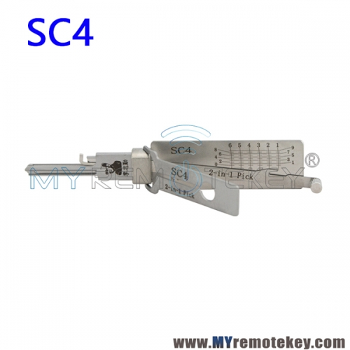 SC4 Lishi 2 in 1 Pick Decoder Tool