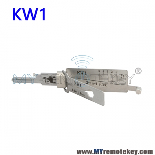 KW1 Lishi 2 in 1 Pick Decoder Tool