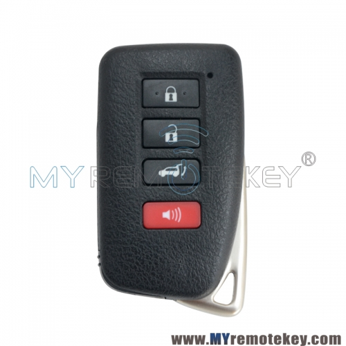 HYQ14FBB Smart key shell case 3 button with panic for Lexus LX570 RX350 RX450 2016-2020