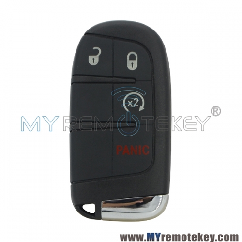 M3N-40821302 Smart key 4  button with 4A chip included SIP22 key blade for 2015+ Jeep Renegade